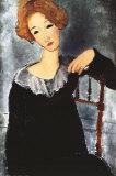 Femme aux cheveux rouges Posters par Amedeo Modigliani