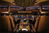 Cockpit d'avion boeing 777-200 Affiche