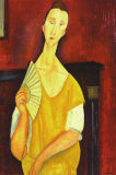Woman with a Fan Art by Amedeo Modigliani