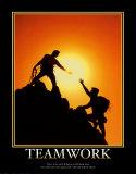 Praca zespołowa Plakat