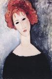 La femme rousse Affiches par Amedeo Modigliani