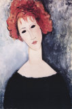 Redhead Plakater af Amedeo Modigliani