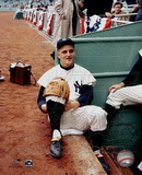 Roger Maris -  3 Sitting on steps of dugout Photo