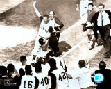 Bill Mazeroski - 1960 World Series Winning Home Run, sepia Photo
