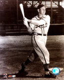 Enos Slaughter - Batting, posed sepia Photo
