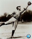 Ty Cobb - Fielding, sepia Photo