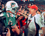 NFL: Dan Marino / John Elway Photo