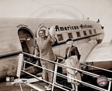 Babe Ruth - Retired 2 - Boarding plane Photo