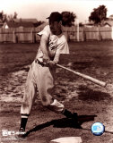 Ted Williams - Sepia swinging Photo
