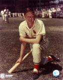 Red Schoendienst - Kneeling with bat Photo