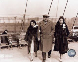Babe Ruth - Retired 8 - Babe with wife Claire & daughter Julia on boat deck Photo