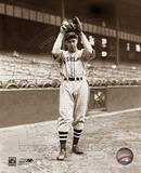 Bob Feller - Ball & glove overhead Photo