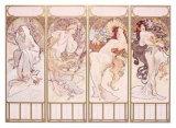 Seasons, Winter Panel, 1897 Giclee Print by Alphonse Mucha