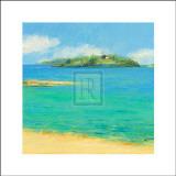 Aquamarine II Prints by Hazel Barker