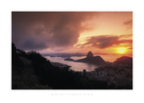 Sunset in Rio Prints by Bent Rej