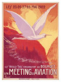 Meeting Aviation Giclee Print by Pierre Commarmond