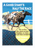 A Good Start Is Half the Race Giclée-Druck von Frank Mather Beatty