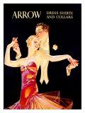 Arrow - Chemise de soirée et collerettes Impression giclée par Joseph Christian Leyendecker