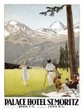 Palace Hotel, St. Moritz Giclee Print by Emil Cardinaux