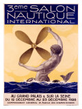 3rd Salon Nautique International Giclee Print by Sandy Hook