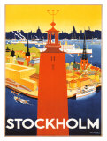 Stockholm Reproduction proc&#233;d&#233; gicl&#233;e par Donner 
