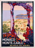 Monaco, Monte-Carlo Reproduction procédé giclée par Roger Broders