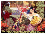 Bananas, From Lands of Tropical Splendor Giclee Print by Dean Cornwell