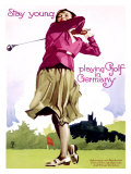 Golf in Germany Reproduction procédé giclée par Ludwig Hohlwein