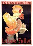 Folies Bergere, La Loie Fuller Giclée-tryk af Jules Chéret