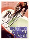 Velodrome Communale Vigorelli Reproduction procédé giclée par Gino Boccasile