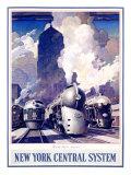 New York, Central Railroad Giclée-tryk af Leslie Ragan
