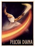 Pelota Diana Giclee Print by  Mancioli