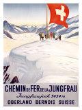 Chemin de Fer de la Jungfrau Lámina giclée por Emil Cardinaux