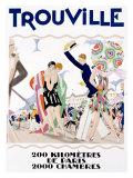 Trouville Lámina giclée por Maurice Lauro