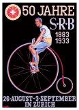 Manifesto della S.R.B. (Federazione ciclistica svizzera) Stampa giclée di Emil Huber