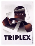Triplex Reproduction procédé giclée par Adolphe Mouron Cassandre