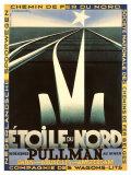 Etoile du Nord, Belgische Eisenbahngesellschaft Giclée-Druck