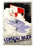 "Pullman-Zug ""L'Oiseau Bleu"" Giclée-Druck von Adolphe Mouron Cassandre"