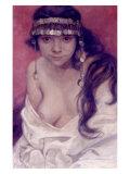 Girl from Montenegro Giclee Print by Alphonse Mucha