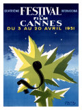 Cannes Film Festival, 1951 Giclee Print by Paul Colin