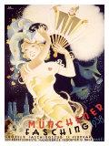 Munchener Fasching, 1938 Gicleetryck av  Koli (Anton Kolnberger)