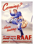 WWII, R A.F. Recruit Giclee Print