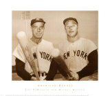 American Heroes - Joe DiMaggio and Mickey Mantle Pster