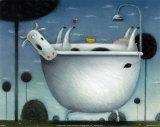 Heaven is a Hot Bath Schilderijen van Rob Scotton