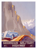 Georgian Military Highway Giclee Print by Jitomirsky 
