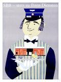 SBB, Stets Zu Ihren Diensten Giclee Print by Louis-Auguste Brun