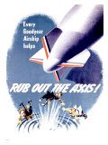 WWII, Rub Out the Axis! Giclee Print
