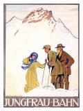 Jungfrau Bahn Giclee Print by Emil Cardinaux