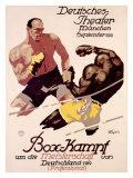Box-Kampf Lámina giclée