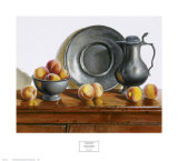 Peaches and Pewter Posters by Pauline Eblé Campanelli